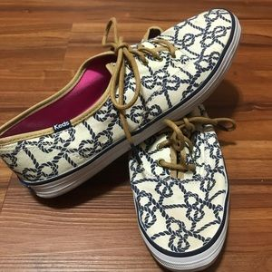 Keds Nautical Blue Knotted Sneakers